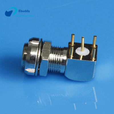 Lemo 00 coaxial Lemo S Series right angle printed circuit socket EPS Elbow connector EPS.00.250