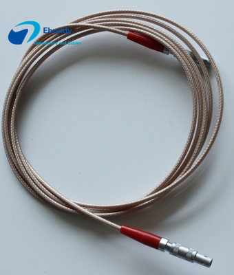 C5-C5 Ultrasonic Probe Custom Power Cables LEMO FFA 00 250 Connector RG316 Signal Transmission