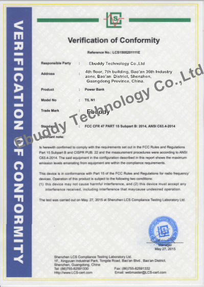 China Ebuddy Technology Co.,Limited Certification